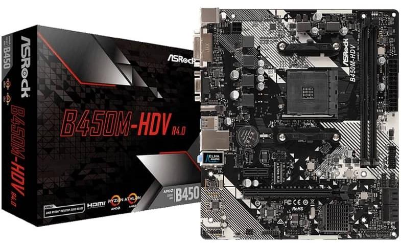 ASRock B450M-HDV R4.0 AM4 AMD